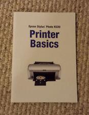 genuine (epson stylus photo r220) printer basics manual owners booklet