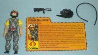 1989 GI Joe Cobra Python Patrol Tele Viper v2 Figure w/ File Card *Complete