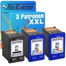 3x Cartridges For HP 21 XL & 22 Deskjet D2320 D2330 D2338 D2340 D2345 D2430