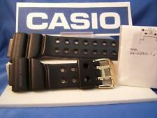 Casio Watch Band GW-225 Frogman Black Resin w/ Gold Tone buckle.Two-Piece  Strap