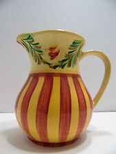 Southern Living At Home Beverage Pitcher Gail Pittman Sienna Retired 48 Oz EUC