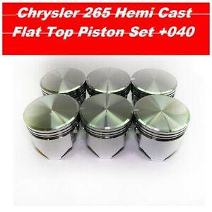 Chrysler Valiant Charger Pacer 6 Cylinder 265 Hemi Piston Set +040 1971-1981