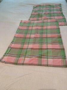 NWOP Nautica Pink and Green Plaid Standard Pillow Shams!