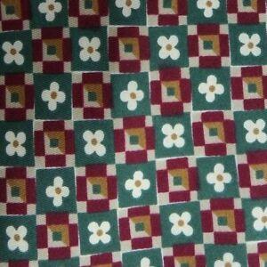 Green Burgundy Foulard Silk Tie