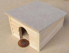 1:12 finitura naturale in legno DOG Kennel DOLLS HOUSE miniatura PET Accessorio T2