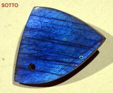 ► CABOCHON LABRADORITE SPECTROLITE CM. 4.57 x 3.30 x 0.82 CIONDOLO - PENDENTE ◄