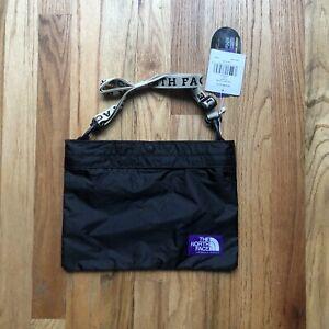 NWT Men's The North Face TNF Purple Label Black Tape Logo Shield Shoulder Bag