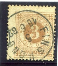 SWEDEN;  1877-79 early classic ' ore ' issue fine used 3ore. fair POSTMARK