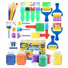 Kids Paint Set Children Toddler Art Supplies Brushes Crayola Washable Paint Kit