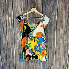 Jams World Vintage Top Tank Mystere Tropical Floral Multicolor Women's  Medium
