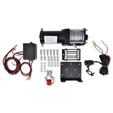Elektrische Seilwinde mit Montageplatte, Seilführungsrolle 1360 KG 12 V M3N2