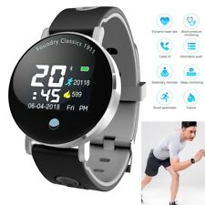 Men Women Smart Watch Blood Pressure Heart Rate Monitor Steps Calories Pedometer