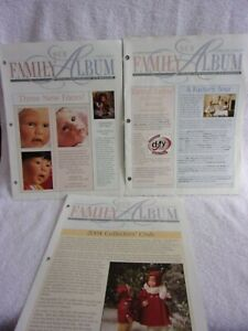"3 Issues Lee Middleton Dolls ""Our Family Album"" Collectors' Club Newsletter"