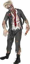 Smiffys Adult men's High School Horror Zombie Schoolboy Costume, Jacket, Atta...