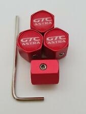 VAUXHALL ASTRA GTC Matte Red DUST VALVE CAPS Anti Theft Prevents Theft Other Col