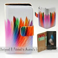 For Huawei Series - Abstract Feather Theme Print Wallet Mobile Phone Case Cover