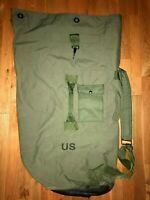 2--US Military Issue OD Green Nylon Duffel Bag Sea Garrison Duffle Equipment PCS