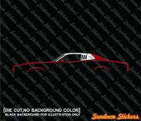 2X Car silhouette stickers -for Dodge Charger SE 3rd gen 1973-1974 classic mopar