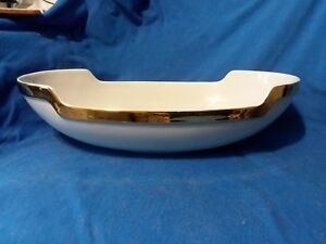 ROYAL HAEGER  GOLD TRIM WHITE CONSOLE DISH BOWL
