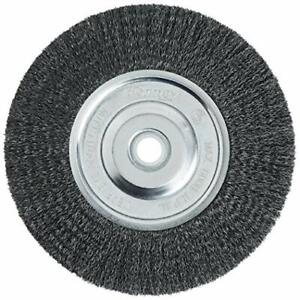 Wire Bench Wheel Brush Fine Cleaning & Blending Crimped with 6-Inch-by-.008-Inch