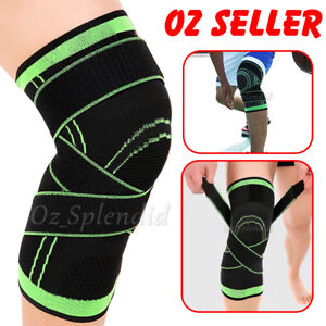 3D Weaving Knee Brace Breathable Sleeve Support Running Jogging Sports Leg