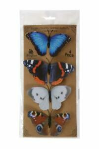 English Country Garden Butterfly Decorations on Clips - Pack of 4 Indoor/Outdoor