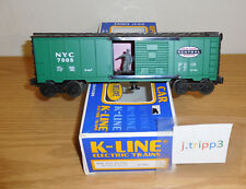 K-LINE K-7005 NEW YORK CENTRAL GREEN OPERATING MAN BOXCAR O GAUGE TRAIN CAR NYC