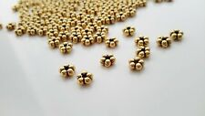 200 Daisy Spacers 5mm Gold Tone Metal Beads Jewelry Making Supplies