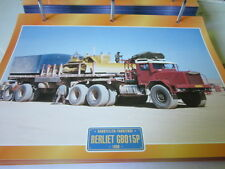Super trucks chantiers Camion FRANCE BERLIET gb015p 1958