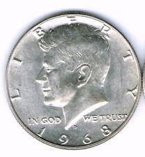 1968 Denver Brilliant Uncirculated Silver Strike JFK Half Dollar Coin!