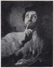 D9506 Piazzetta - San Giovanni Nepomuceno - Stampa d'epoca - 1925 vintage print