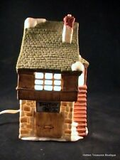Dept 56 Dicken's Village Bean & Son Smithy Shop 1984 Porcelain Lighted House