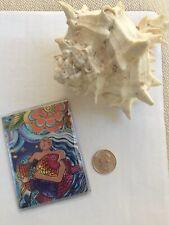 Laurel Burch Mermaid Sea Goddess Slim Wallet Card Case: Credit Bus Metro Opera