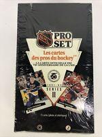 1991-92 NHL Pro Set French Hockey Series 2 Factory Sealed Box 36 Wax Packs