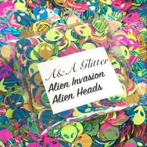 Nail Art Glitter (Alien Invasion) Shapes Cosmetic Glitter 5g Bag