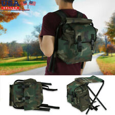 Foldable Outdoor Camping Fishing Stool Convenient Carry Seat With Storage Bag ES