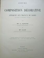 COURS DE COMPOSITION DECORATIVE - Mme G. SCHEFER - Mlle KLEIN - Henri LAURENS