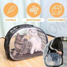 【Transparent】Cat Dog Pet Carrier Bag Travel Handbag Foldable Shoulder Breathable