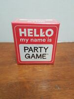 Hello My Name Is Party Game By Ceaco. Brand New. Free Shipping! Ages 12 and up.