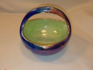 Vintage Maling Basket Bowl Storm Pattern Newcastle England In Good Condition.#2