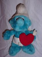 "Peyo 1982 Vintage Cupid Smurf 11"" Plush Soft Toy Stuffed Animal"