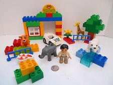 Lego Duplo Set #6136 My First Zoo with Car Man & Animal Figures parts Lot !!!