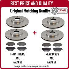 Discos de freno delantero y trasero y Almohadillas Para Citroen Xsara Picasso 1.6 HDI 3/2004 -12/