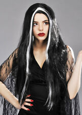 Womens Long Gothic Morticia Wig