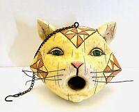 2004 Jim Shore Heartwood Creek Cat Head Birdhouse Enesco RETIRED