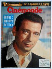 ►CINE MONDE 1257/1958-YVES MONTAND-BRIGITTE BARDOT-JC PASCAL-HILDEGARDE NEFF...