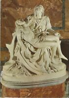 Italy Rome Michelangelo's La Pieta Basilica St. Peters Stamps Vintage Postcard