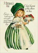 REPRINT PICTURE old postcard ST PATRICK'S DAY the charm of the morn to you 5x7