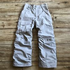The North Face Insulated Girls Ski Snow Pants Size Large 14/16 Gray Mint Cond!