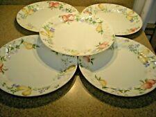 "Set of 5 Corelle Chutney Fruit Swirl Dinner Plates 10.25"" VGC"